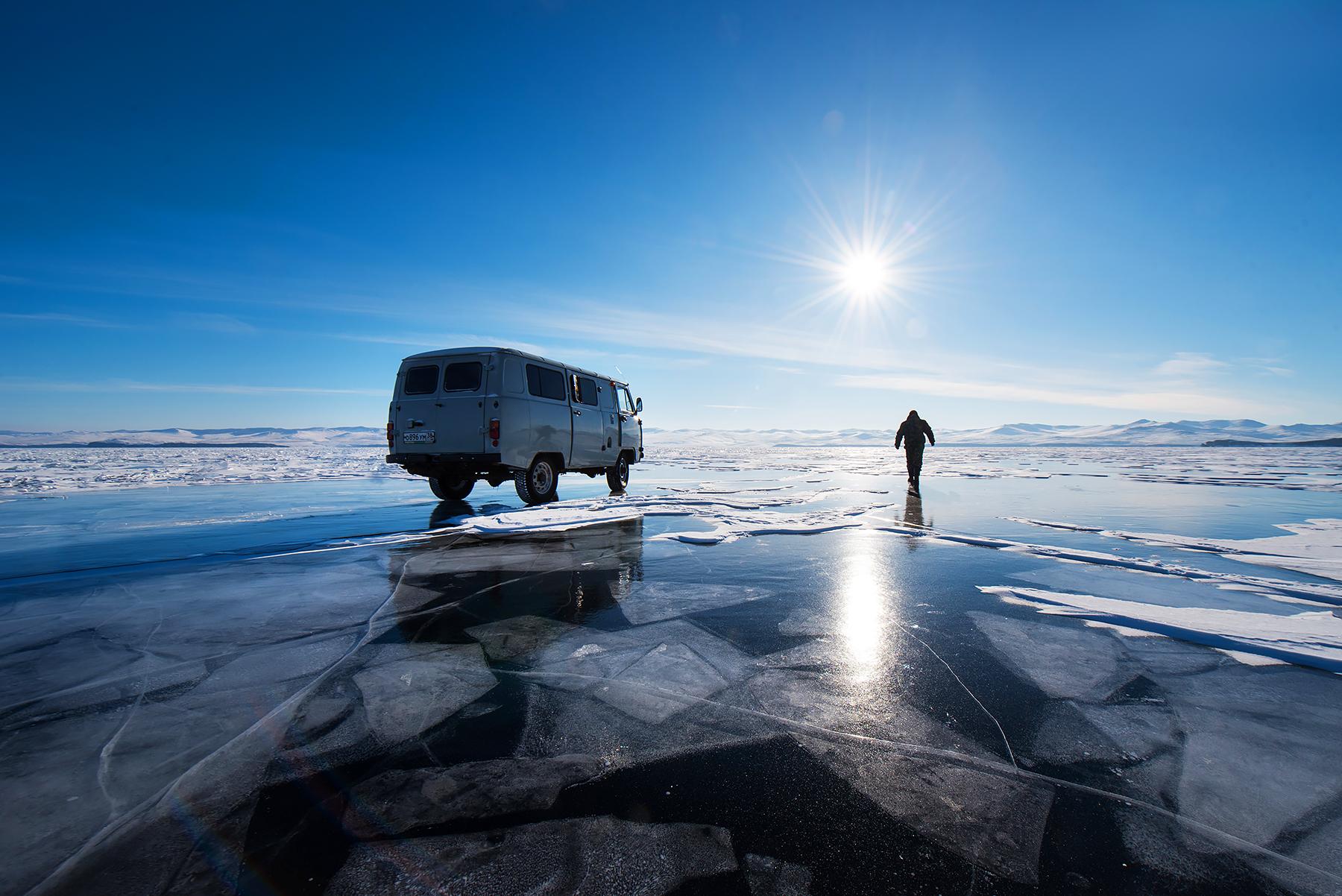 Lake baikel in Winter